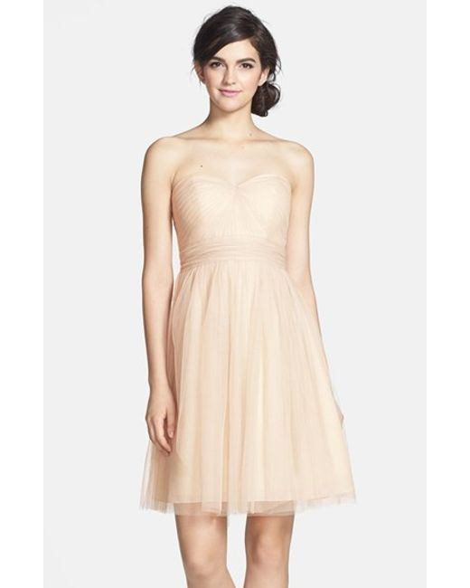 Jenny Yoo | Natural 'wren' Convertible Tulle Fit & Flare Dress | Lyst