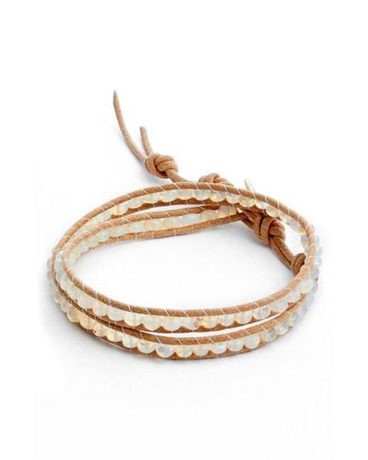 Chan Luu - Metallic Opal Double Wrap Bracelet - Lyst