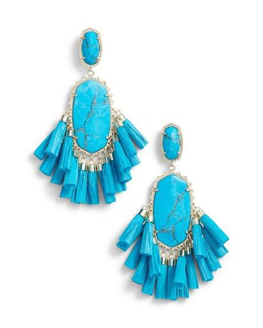 Kendra Scott - Blue Cristina Stone Tassel Earrings - Lyst