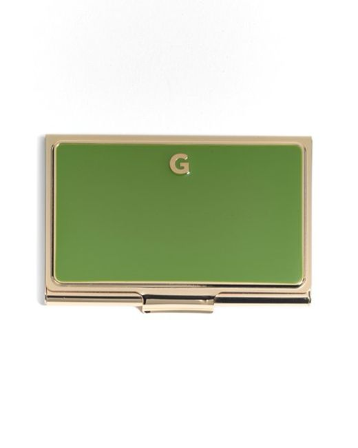 Kate Spade | Green One In A Million Initial Business Cardholder | Lyst