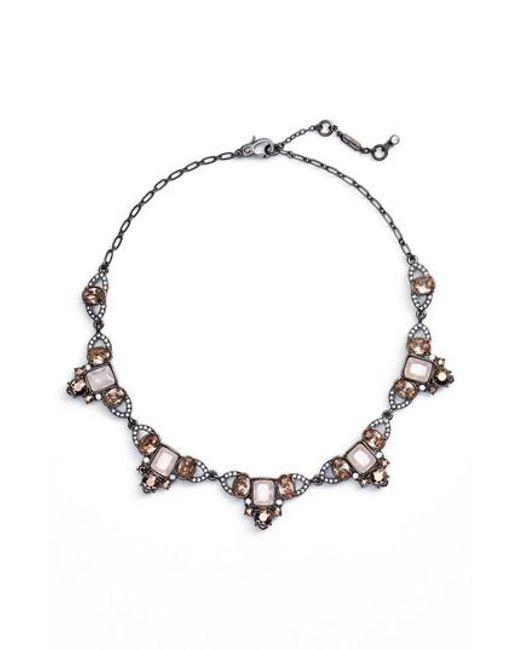 Jenny Packham | Metallic Collar Necklace | Lyst