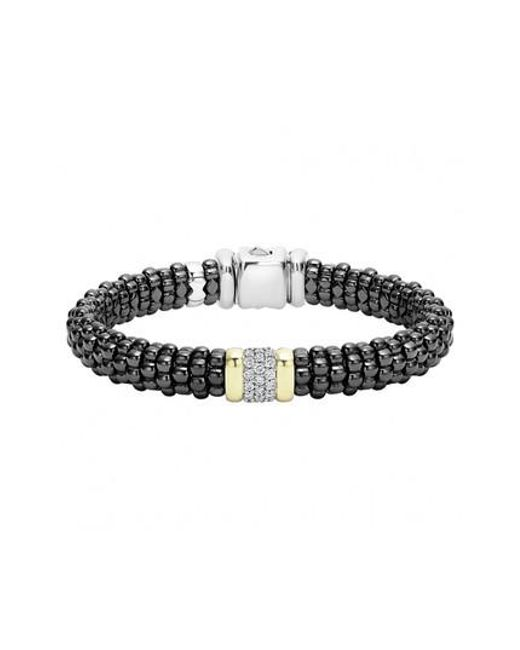 Lagos - Metallic 'black Caviar' Diamond Rope Bracelet - Lyst
