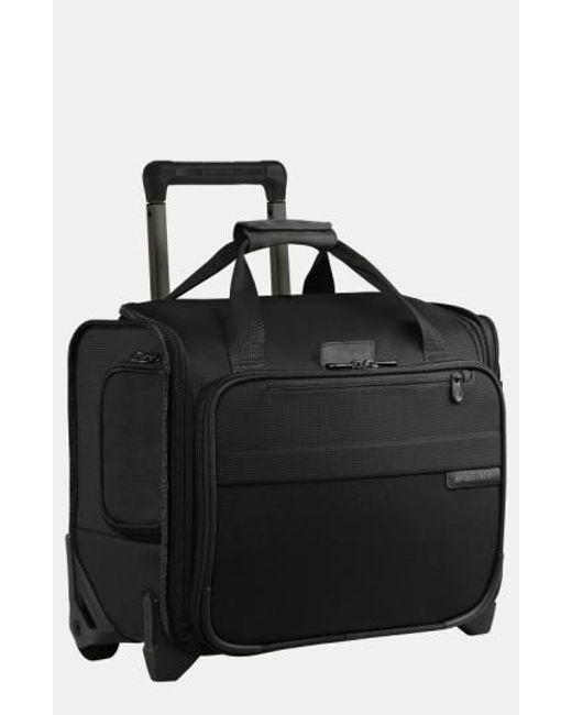 Briggs & Riley | Black 'baseline' Rolling Cabin Bag for Men | Lyst