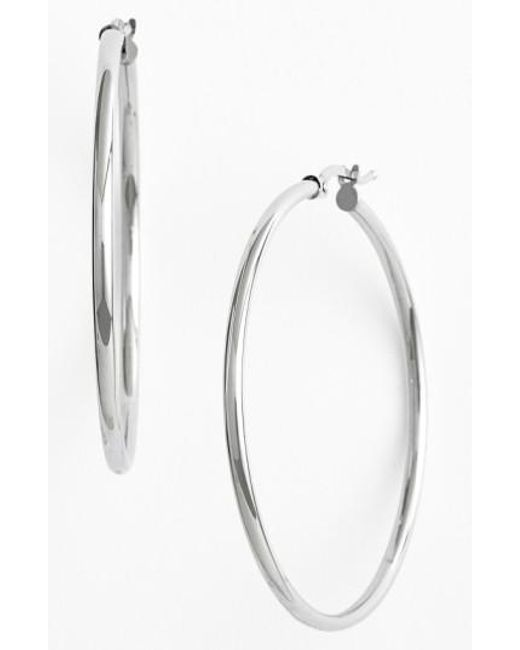 Bony Levy - White 14k Gold Hoop Earrings (nordstrom Exclusive) - Lyst
