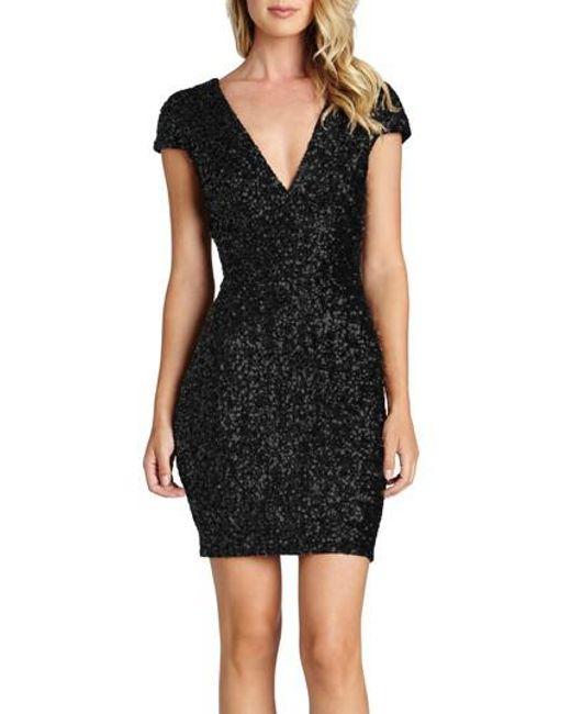 Dress the Population - Blue Zoe Sequin Minidress - Lyst