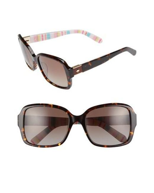 Kate Spade | Brown Annor 54mm Polarized Sunglasses | Lyst