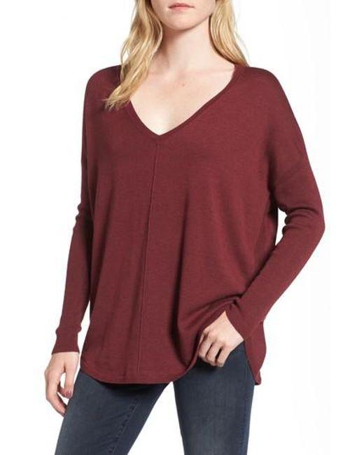 Trouvé | Purple 'everyday' V-neck Sweater | Lyst