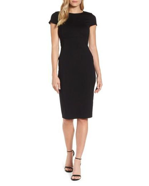 Felicity & Coco - Black Seamed Pencil Dress - Lyst