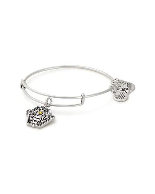 ALEX AND ANI - Metallic Charity By Design Queen Bee Adjustable Bangle - Lyst