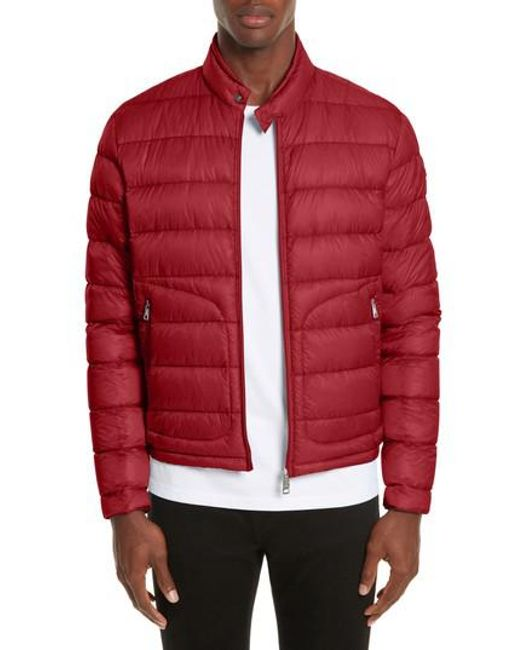 Moncler - Red Acorus Down Quilted Jacket for Men - Lyst