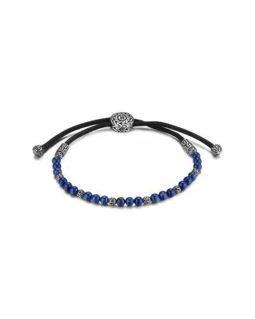 John Hardy | Blue 'classic Chain' Beaded Friendship Bracelet for Men | Lyst