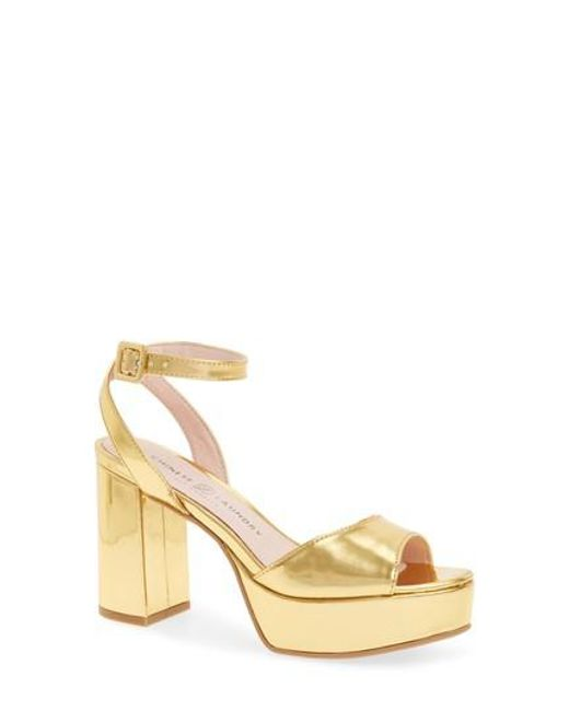 Chinese Laundry | Metallic Theresa Platform Sandal | Lyst