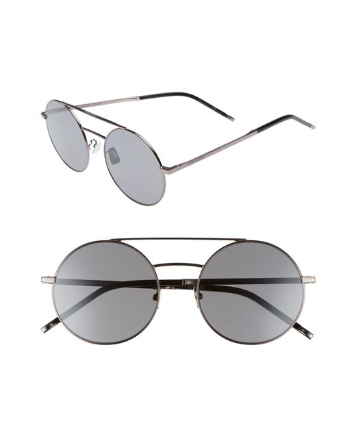 7b101190e1 Lyst - Saint Laurent Sl 210 f 56mm Round Aviator Sunglasses - for Men