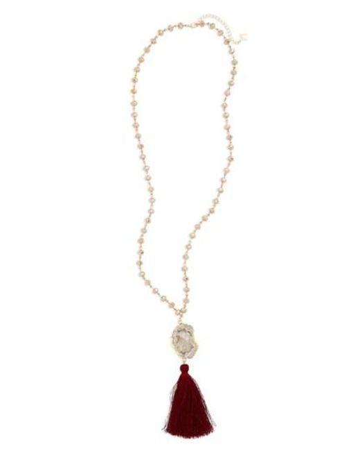 Panacea - Metallic Quartz Pendant Necklace - Lyst