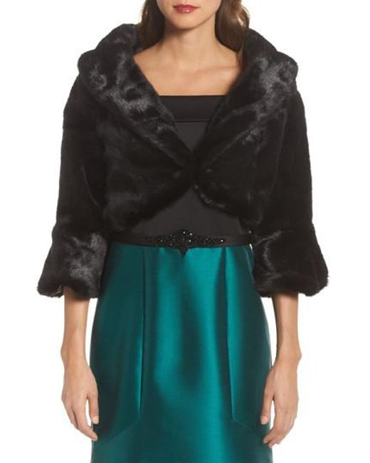 Eliza J | Black Faux Fur Jacket | Lyst