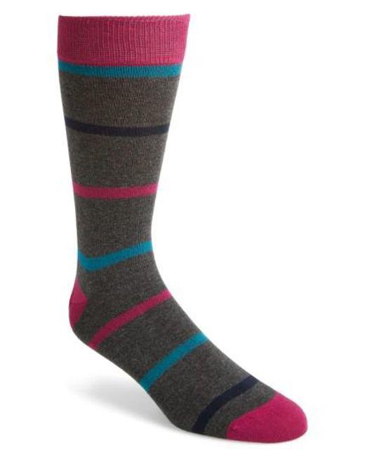 Ted Baker | Red Stripe Crew Socks for Men | Lyst