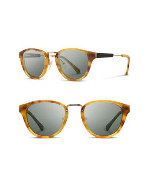 Shwood - Brown 'ainsworth' 49mm Acetate & Wood Sunglasses - - Lyst