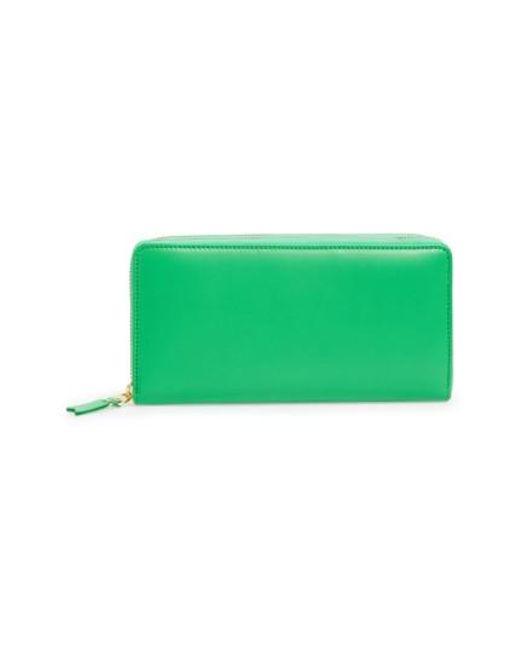 Comme des Garçons   Green Leather Continental Long Wallet for Men   Lyst