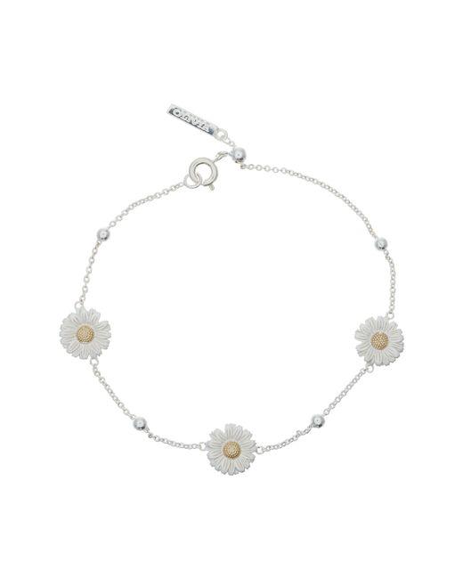 Olivia Burton - Metallic 3d Daisy Ball Chain Bracelet - Lyst