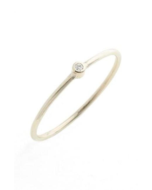 Zoe Chicco | Metallic Diamond Bezel Ring | Lyst