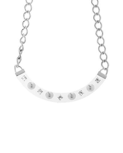 Steve Madden   White Crescent Bib Necklace   Lyst