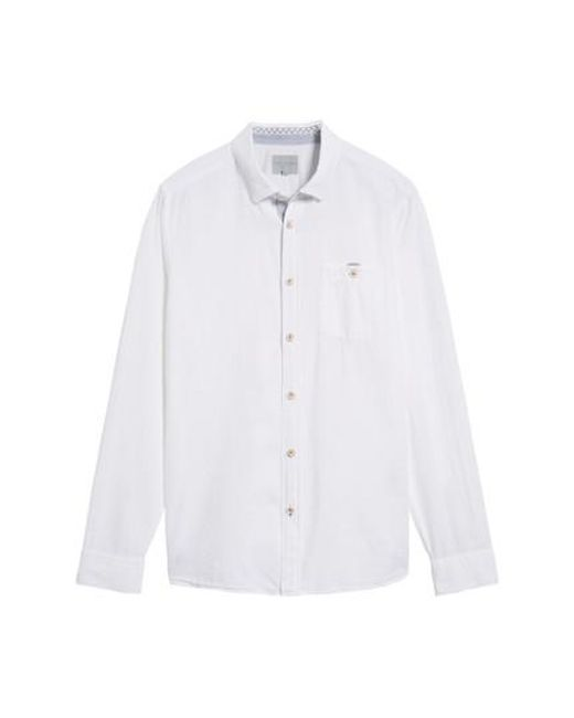 Ted Baker | White Carwash Modern Slim Fit Sport Shirt for Men | Lyst