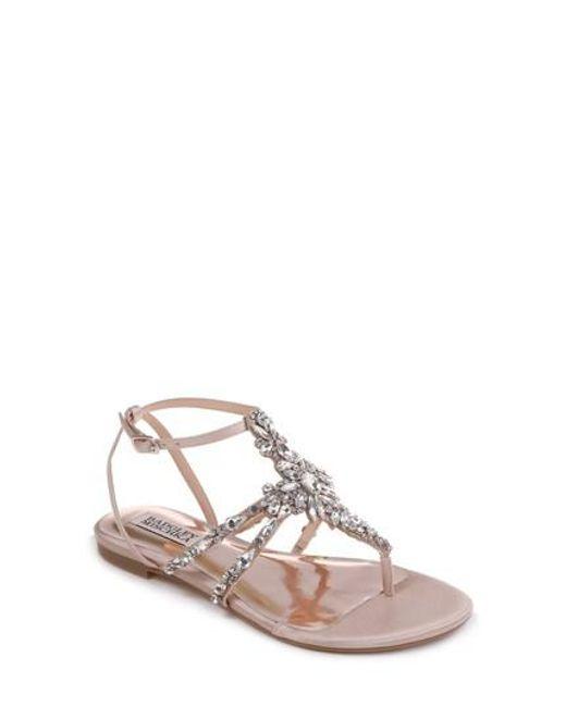 Badgley Mischka Women's Hampden Crystal Embellished Sandal IJccz2y
