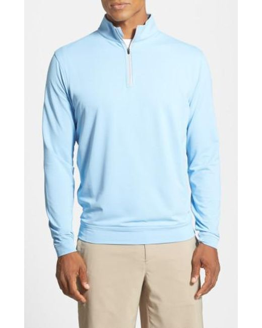 Peter Millar - Blue 'perth' Quarter Zip Pullover for Men - Lyst