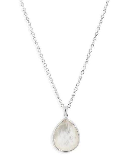 Ippolita - Metallic 'wonderland' Mini Teardrop Pendant Necklace - Mother Of Pearl (online Only) - Lyst