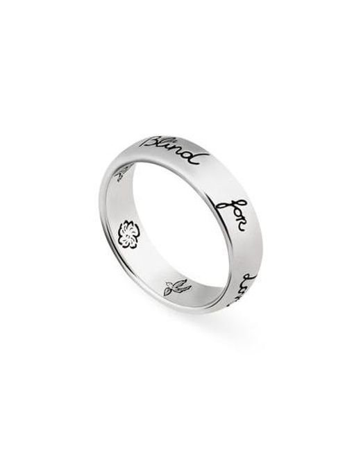 Gucci - Metallic Blind For Love Ring - Lyst