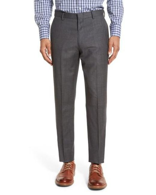 J.Crew | Gray J.crew Ludlow Flat Front Solid Wool Trousers for Men | Lyst