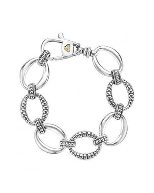 Lagos - Metallic 'link' Sterling Silver Oval Link Bracelet - Lyst