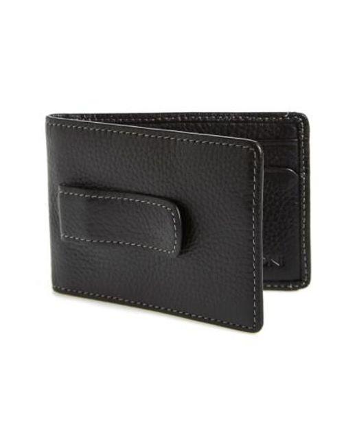 Boconi   Black 'tyler' Money Clip Wallet for Men   Lyst