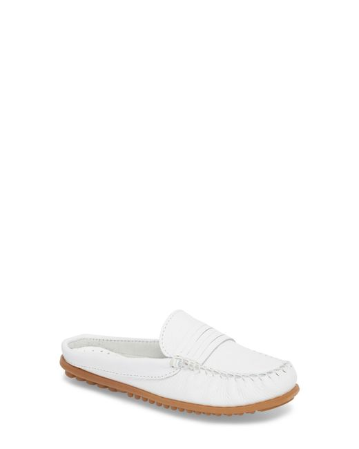 Minnetonka - White Kate Moc Toe Loafer Mule - Lyst