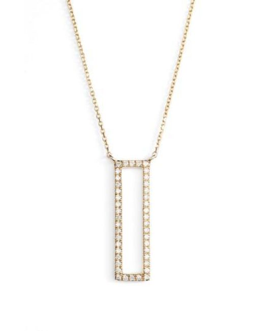 Dana Rebecca | Metallic Diamond Pendant Necklace | Lyst