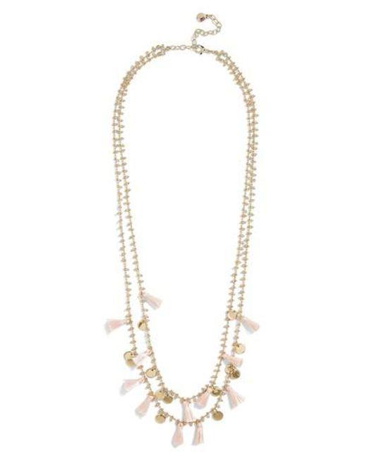 BaubleBar - Metallic Kirana Mini Tassel Layered Necklace - Lyst