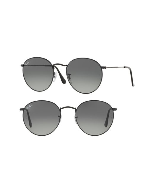 Ray-Ban - Black Phantos 50mm Round Sunglasses for Men - Lyst