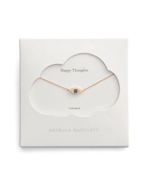 Estella Bartlett - Metallic Happy Thoughts Eye Pendant Necklace - Lyst