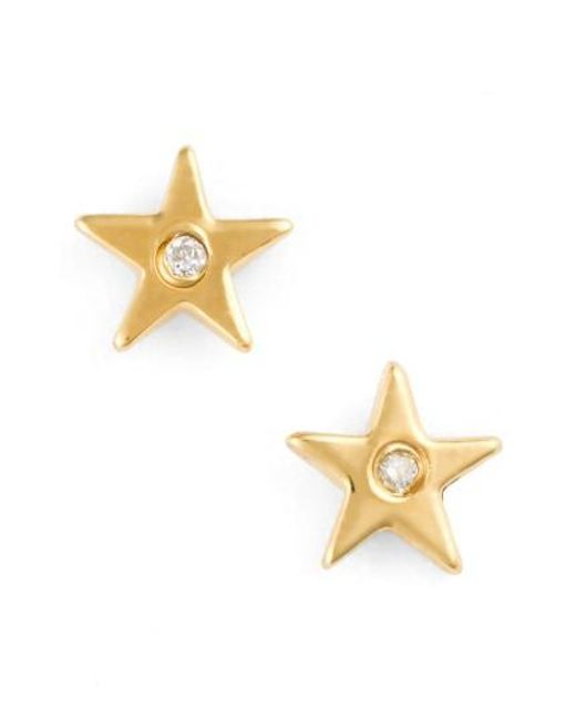 Shy By Sydney Evan | Metallic Star Stud Earrings | Lyst