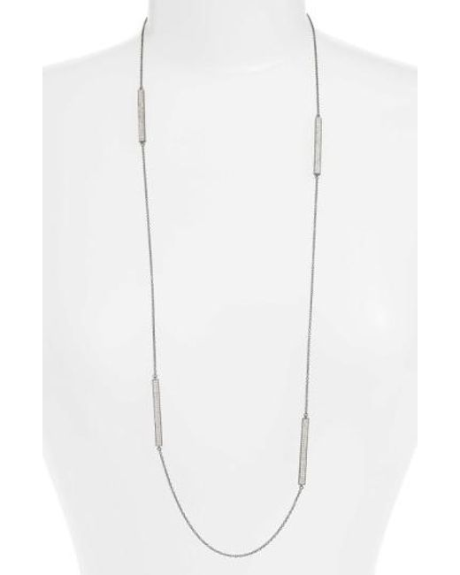 Freida Rothman | Metallic Contemporary Deco Station Necklace | Lyst