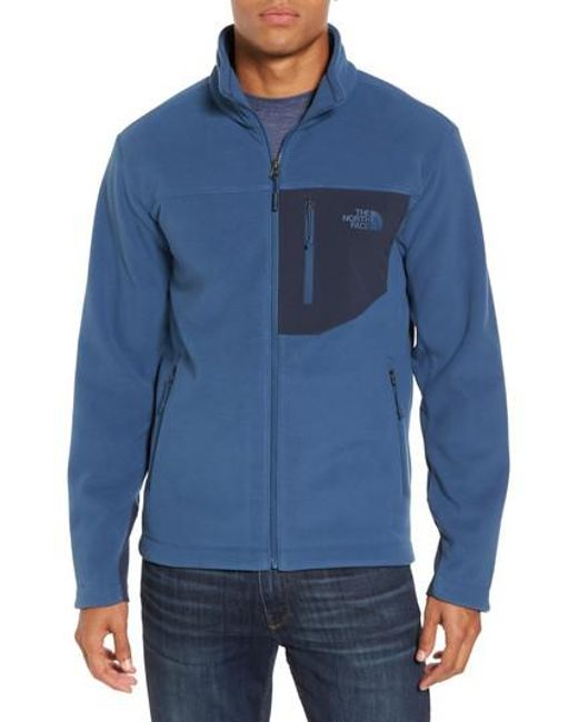 The North Face | Blue 'chimborazo' Zip Front Fleece Jacket for Men | Lyst