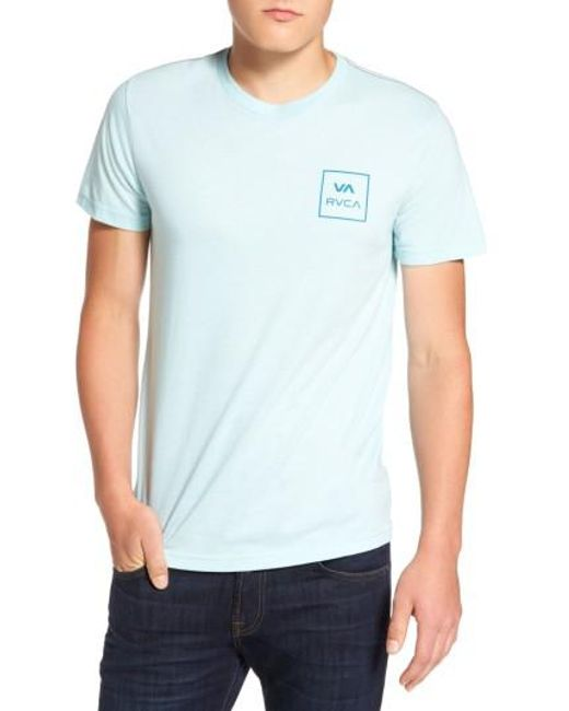RVCA | Blue Grid All The Way Graphic T-shirt for Men | Lyst
