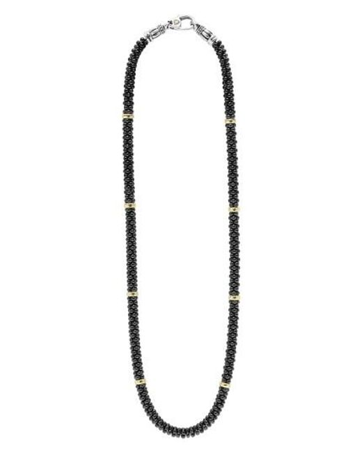 Lagos | 'black Caviar' Station Rope Necklace | Lyst