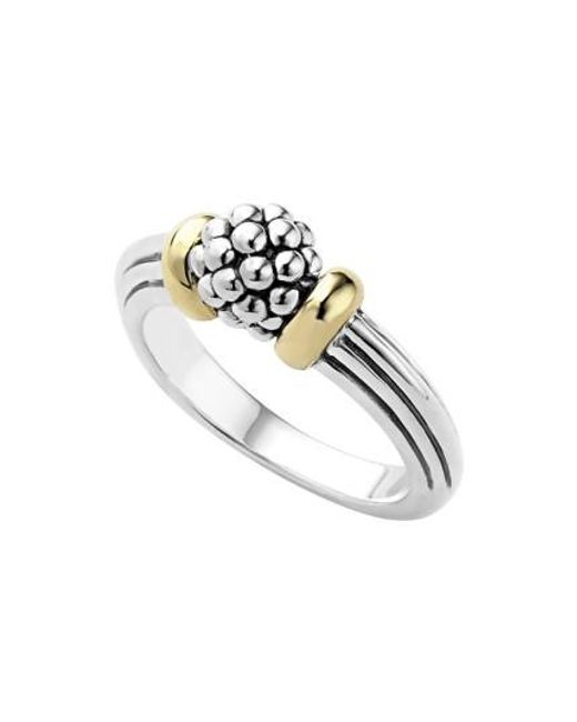 Lagos | Metallic 'caviar Forever' Small Dome Ring | Lyst