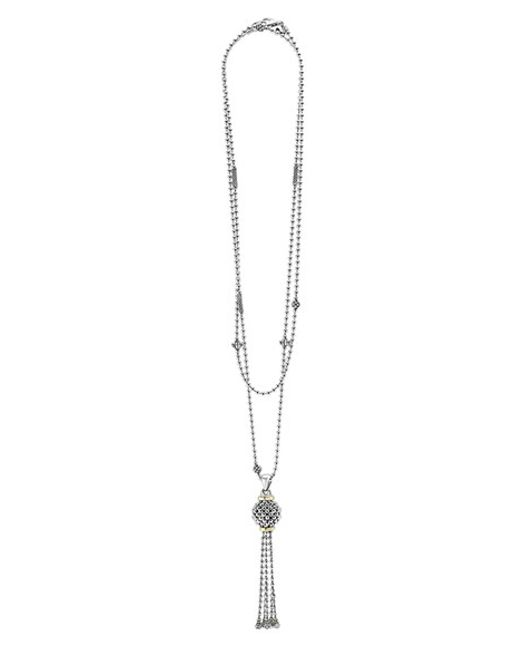Lagos | Metallic 'caviar Forever' Tassel Pendant Necklace | Lyst