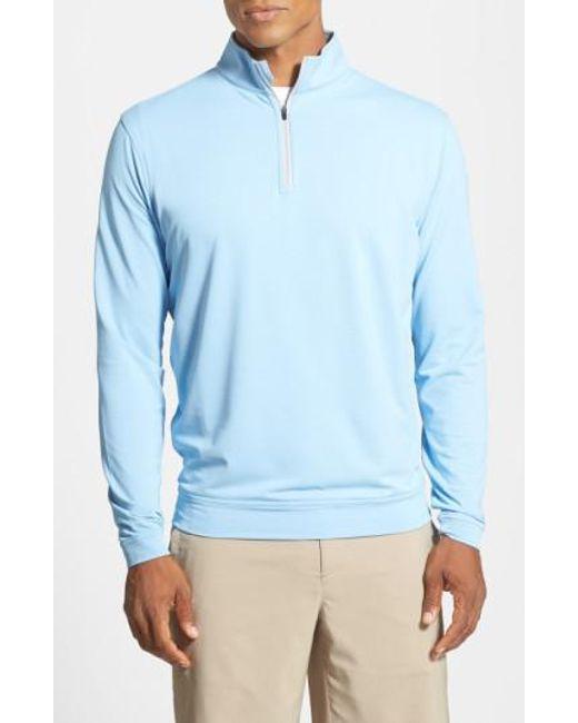 Peter Millar   Blue 'perth' Quarter Zip Pullover for Men   Lyst
