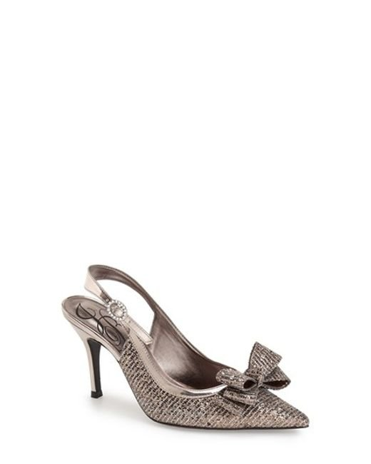 J. Reneé | Charise Metallic Crystal-Embellished Pumps  | Lyst