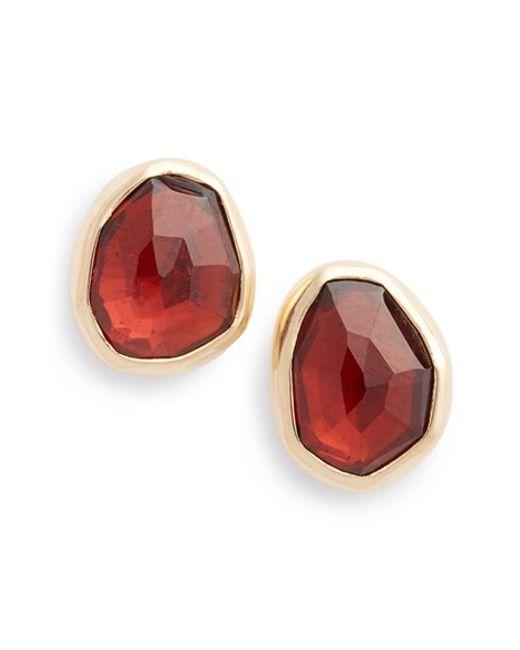 Melissa Joy Manning | Red Garnet Stud Earrings | Lyst