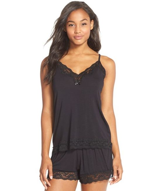 Flora Nikrooz | Black Snuggle Lounge Camisole | Lyst