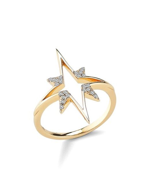 Elizabeth and James | Metallic 'astral' Ring | Lyst